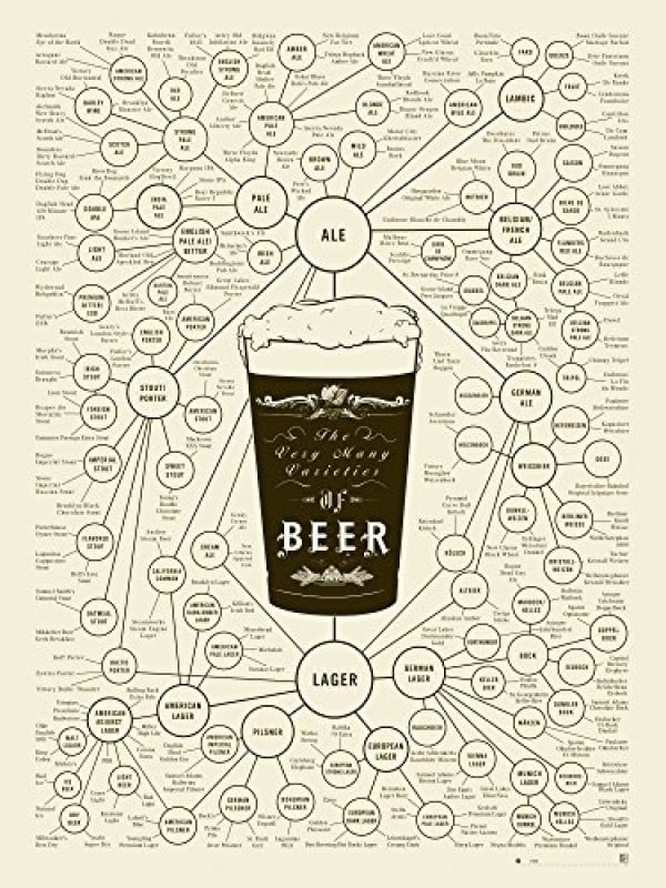 Beer Types Poster #beer #posters #gifts #giftideas #coolstuff