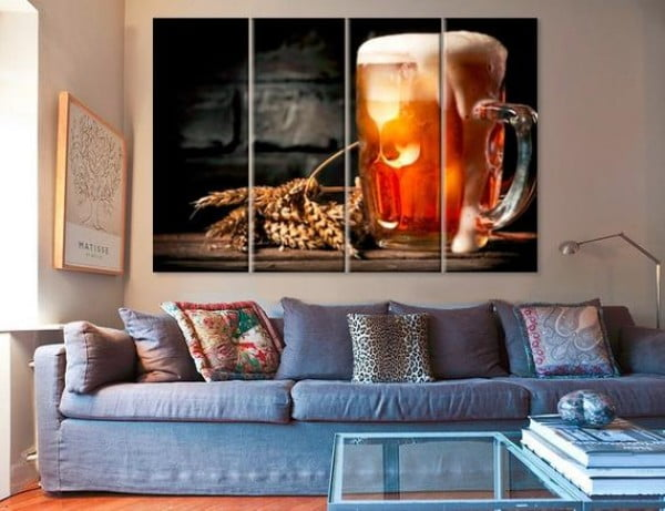 Bar Decor Canvas Beer Canvas Kitchen Decor Restaurant Decor Beer Wall Art Beer Poster Beer Decor Beer Art Beer Print Bar Wall Art Beer Photo #beer #posters #gifts #giftideas #coolstuff