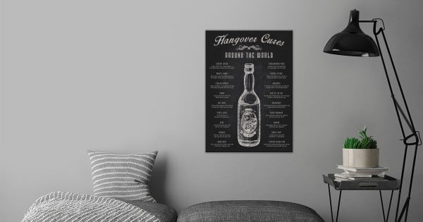 The Hangover Cures from Around... by Swav Cembrzynski #beer #posters #gifts #giftideas #coolstuff