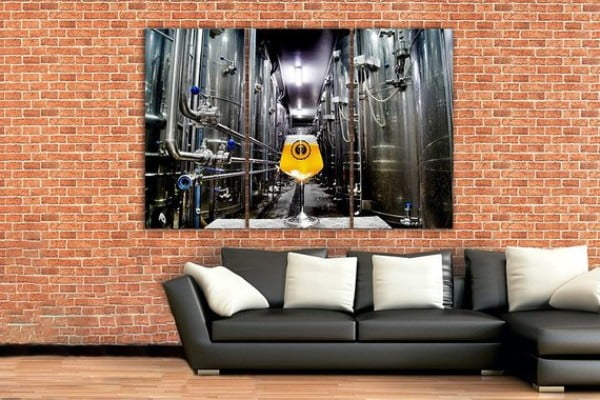 Beer canvas Brewery Large canvas set Beer wall decor Beer print Beer art Beer poster Bar wall décor Beer barrels Beer lover gift Drink photo #beer #posters #gifts #giftideas #coolstuff