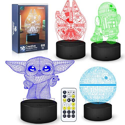 3d Illusion Star Wars Night Light,4 Pattern With