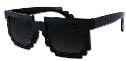 8-bit Pixel Retro Computer Sun Glasses Nerd