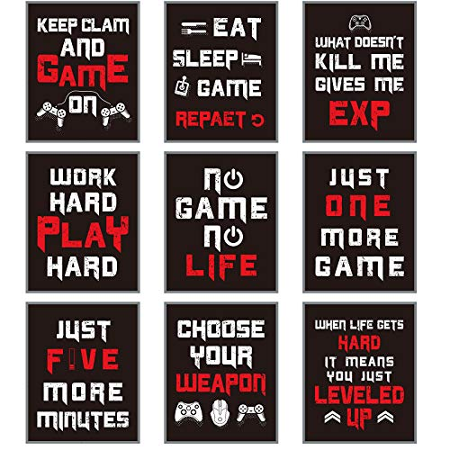 9 Pieces Gaming Art Prints Gaming Posters For
