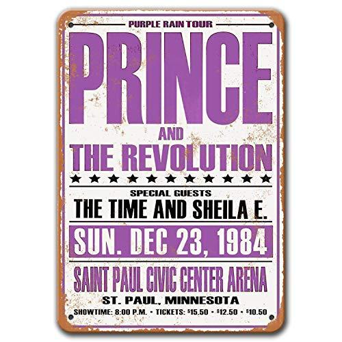 Agedsign Prince Poster, Vintage Metal Wall Art