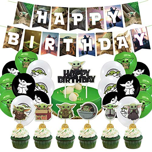 Baby Yoda Party Decorations 44pcs The Mandalorian