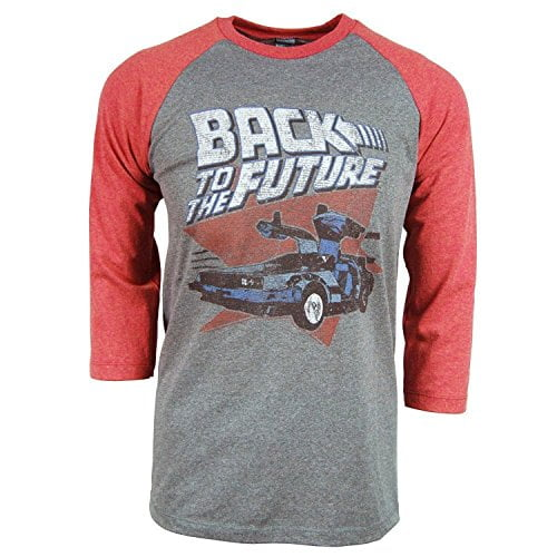 Back To The Future Red And Blue Adult Soft Raglan