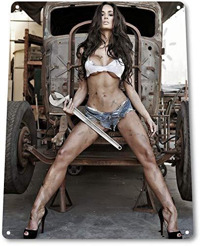 Big Wrench Pinup Girl Sexy Hot Rod Car Garage Shop