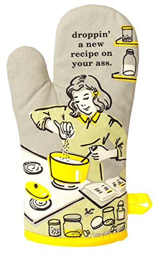 Blue Q Oven Mitt, Droppin' A New Recipe On Your