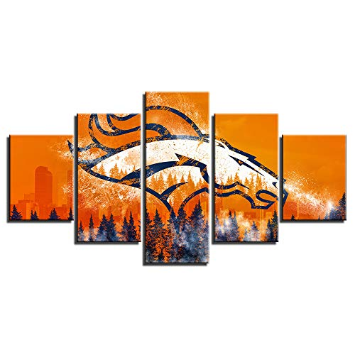 Broncos Canvas Prints Wall Decor Pictures Wall Art