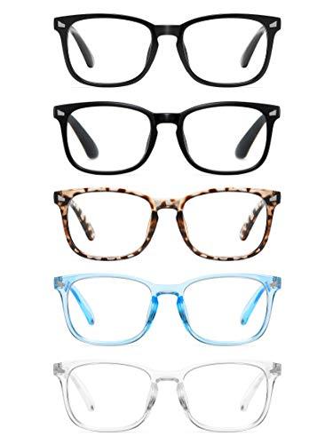 Ccvoo 5 Pack Reading Glasses Blue Light Blocking,