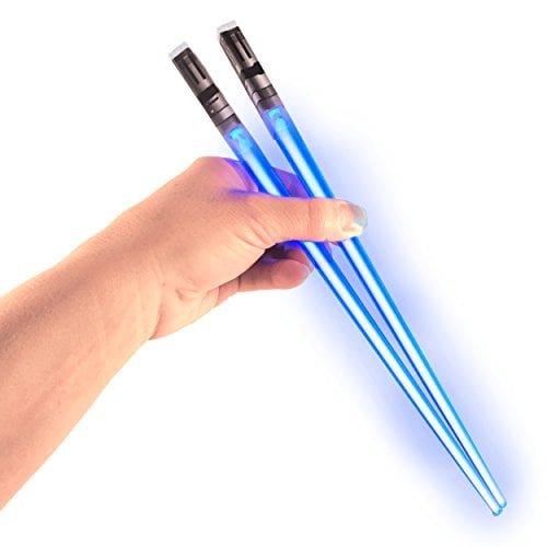Chop Sabers Light Up Lightsaber Chopsticks, Blue