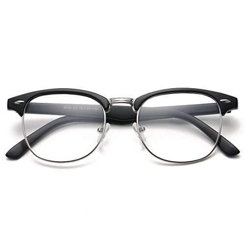 Coasion Vintage Semi-rimless Clear Glasses Fake