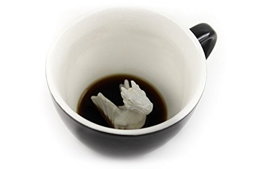 Creature Cups Dragon Ceramic Cup (11 Ounce, Black)