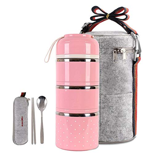Cute Lunch Box Insulated Lunch Bag Bento Box Food