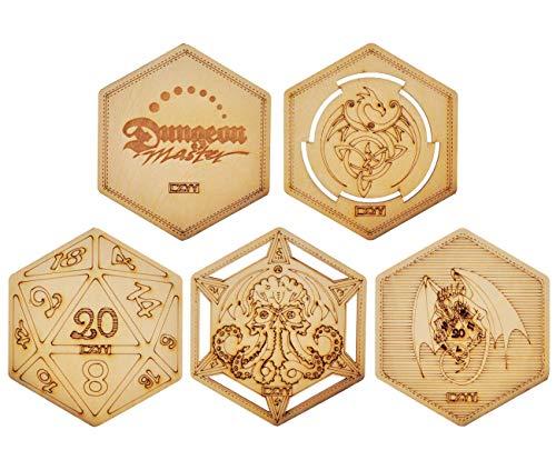 Dnd Decorative Wood Coasters Cool & Unique Table