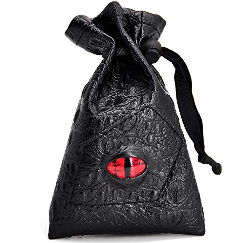 Drawstring Bag Pu Leather Dice Pouch Perfect For