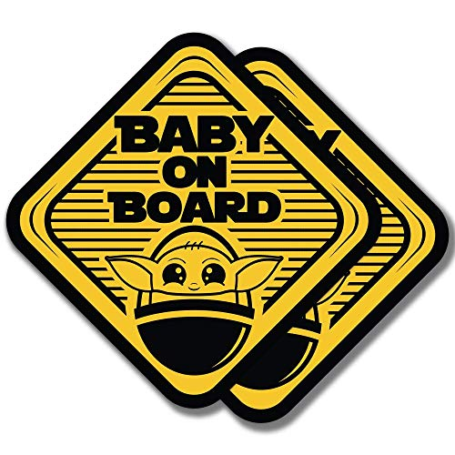 Epic Goods Cute Baby On Board Large (5x5) Vinyl