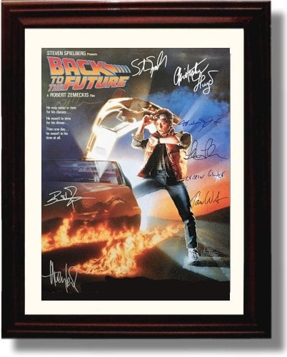 Framed Cast Of Back To The Future Autograph