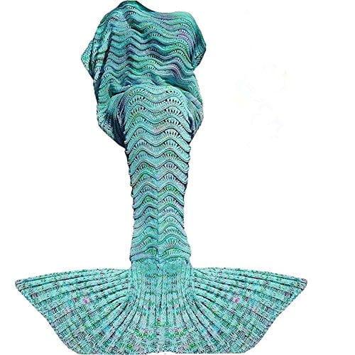 Fu Store Mermaid Tail Blanket Crochet Mermaid