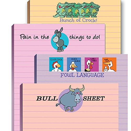Funny Adult Note Pad Assorted Pack - 4 Novelty