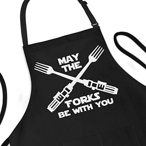 Funny Apron, May The Forks Be With You - Novelty