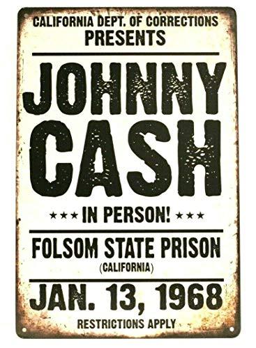 Gedsing johnny Cash Tin Sign Man Cave Vintage