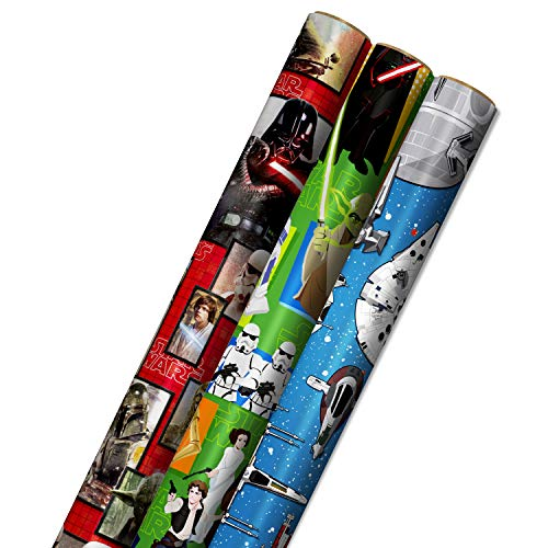 Hallmark Star Wars Wrapping Paper With Cut Lines