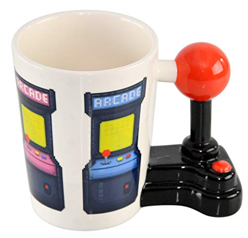 Home-x Novelty Coffee Mug With Joystick Handle For