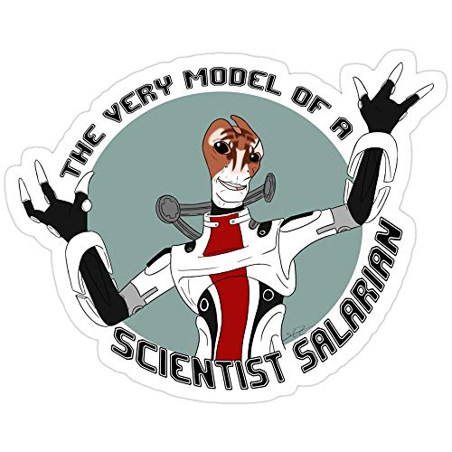 Jess-sha Store 3 Pcs Stickers Scientist Salarian,