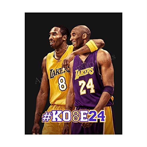 """Kobe Bryant -8 & 24- Memorial Wall Print- 8 X 10"""""""