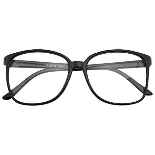 Large Oversized Glasses Clear Lens Thin Frame Nerd