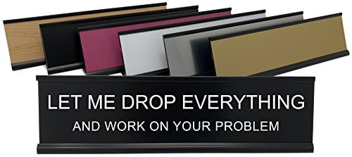 Let Me Drop Everything And Work On Your Problem -