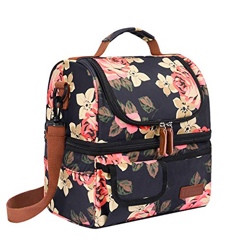 Lokass Lunch Bags For Women Double Deck Insulated