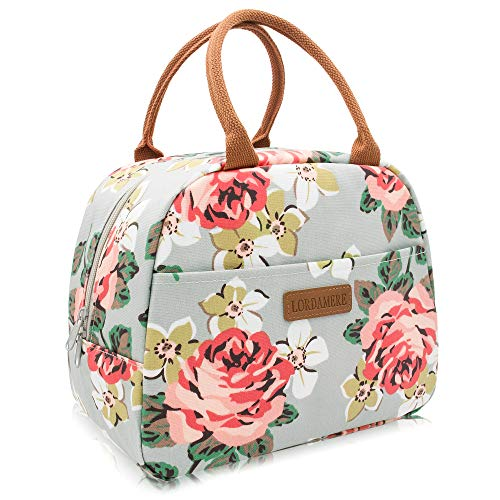 Lordamere Insulated Lunch Bag For Women, Floral