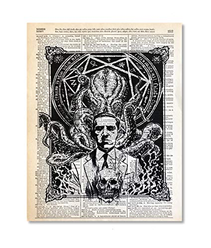 Lovecraft Cthulhu Upcycled Vintage Dictionary Art