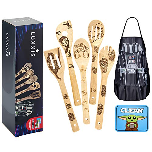 Luxxis Star Wars Gifts Cooking Utensils 7pc Set -