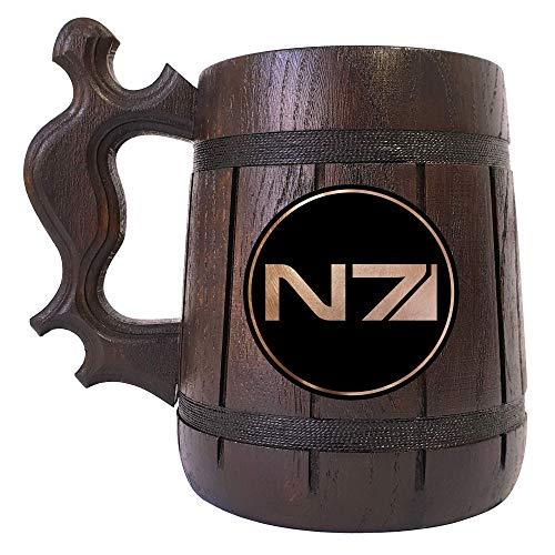 Mass Effect Beer Stein, N7 Wooden Beer Mug, Gift
