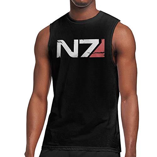 Mass Effect N7 Armour Logo Men Tee Black