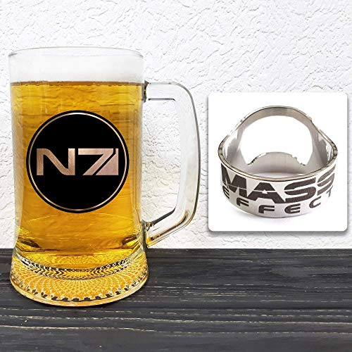Mass Effect - N7 Glass Beer Stein - Gift For Him -