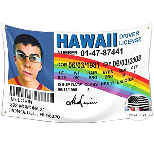 Mclovin Id Flag Fake Driver License Flag,3x5 Feet