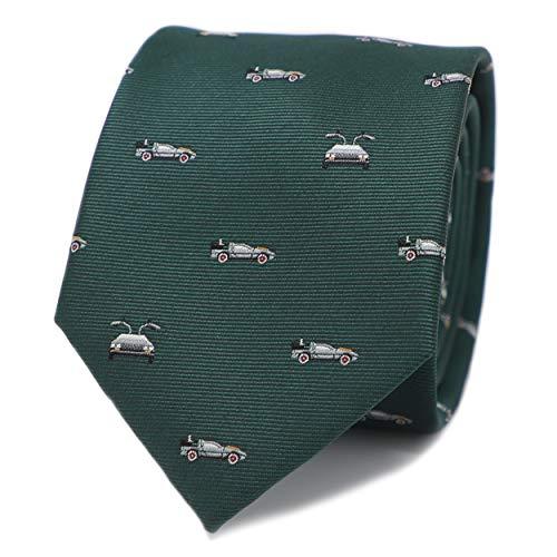 Mendepot Novelty Vintage Car Pattern Men Necktie