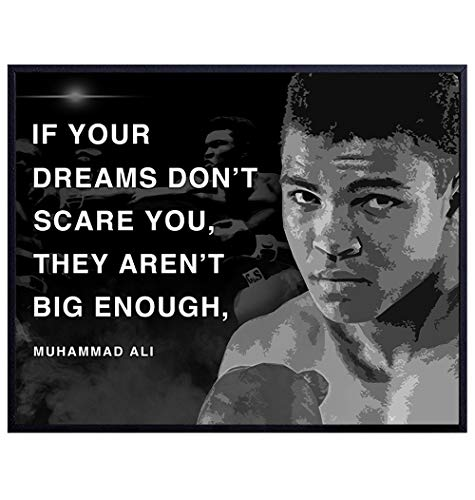 Muhammad Ali Poster - Motivational Sports Quote -