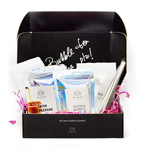 Premium Bubble Tea Kit, Black Tea & Roasted Oolong