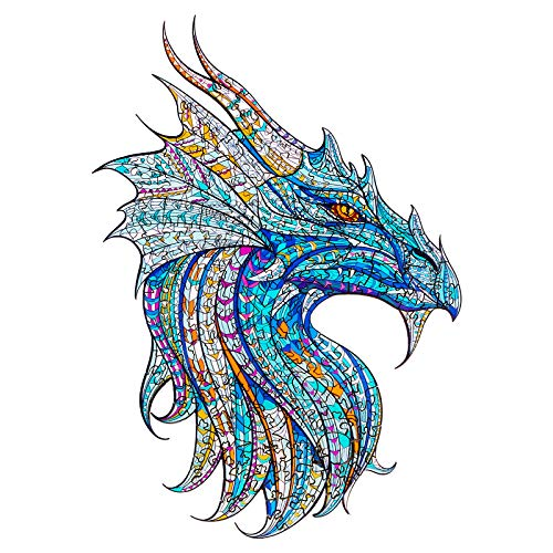 Raykul Wooden Jigsaw Puzzles, Mysterious Dragon