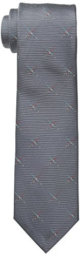 Star Wars Men's Lightsaber Duel Tie, Grey, One