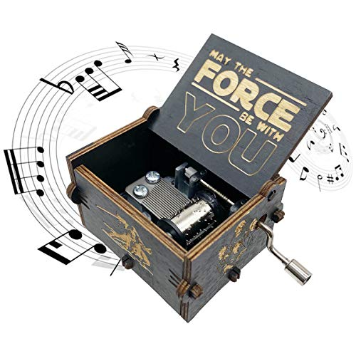 Star Wars Music Box,wooden Hand Crank Unique