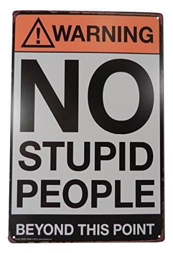 Strosportsandtech Warning No Stupid People Funny
