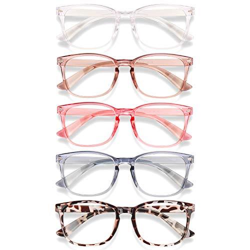Wintoo Blue Light Blocking Glasses - 5pack Men