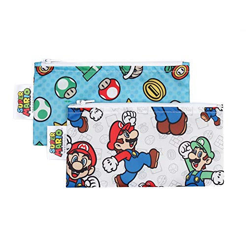 Bumkins Snack Bags, Nintendo Reusable, Washable,