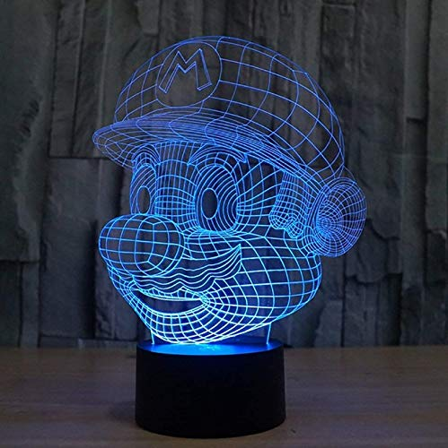 Ikey 3d Mario Night Light Touch Switch Table Desk